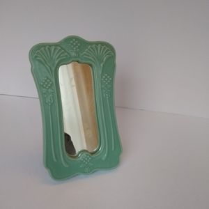 Crowning Touch small Jadeite look ceramic mirror 7